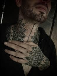 Stylish Henna Tattoo Design On Neck Black Tattoos Henna Tattoo