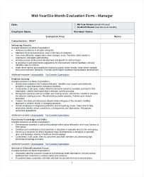 Sample Employee Evaluation Forms Form Easy Template Format Templates ...