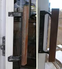 a customer submitted photo of a sliding door handle