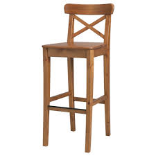 furniture and home furnishings ikea kitchen island bar stools ingolf bar stool with backrest 24 3 4 ikea