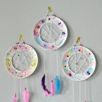Dream CatchersCom The BFG Paper Plate Dream Catchers Kids Craft The Suburban Mom 89