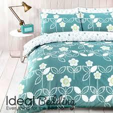 scandi teal fl duvet quilt bedding cover and pillowcase bedding set duvet sets complete bedding sets bed sheets pillowcase