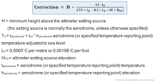 Correction Formula On Altimeters In Cold Weather All About