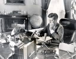 john f kennedy oval office. A Woman\u0027s Touch: Photograph Of Former President John F Kennedy At His Desk In Oval Office H