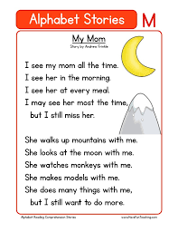 The english phonetics chart featuring the phoneme m represented by letter m. Alphabet Stories Letter M Reading Comprehension Worksheet Have Fun Teaching
