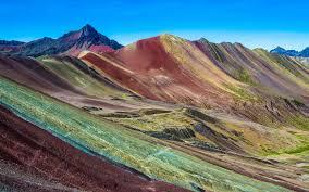 vinicunca peru rainbow mountain 5200 m in andes cordillera de los