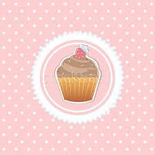 Vintage Card With Cupcake Vector Illustration Valeriya Kuznetsova