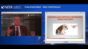 Webcast Excerpt 3: Cross Examination - Stop Overthinking It - YouTube