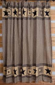 Colonial Star Black Tan Shower Curtain 72x72