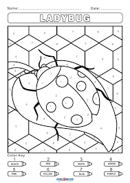 Get crafts, coloring pages, lessons, and more! Free Color By Number Worksheets Cool2bkids