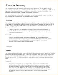 executive summery business plan proposal executive summary examples template sample