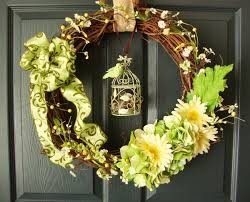 spring front door wreathsWreaths by HomeHearthGardenEtsyCom Spring Wreaths Front Door