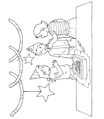 Small Picture Birthday Coloring Page A Boy and 2 Girls At a Party