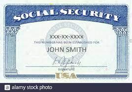 American Social Security Card generic ...