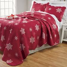 Embroidered Snowflake Quilt and Sham from Country Door   NW755674 & Embroidered Snowflake Quilt and Sham Adamdwight.com
