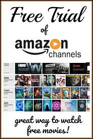 amazon channels free trials get free