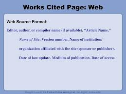 Work Cited Or Works Cited Work Cited Format For Website Term Paper Example 2968 Words