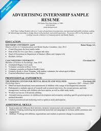 Resume Example For Internship Musiccityspiritsandcocktail Com
