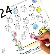 Multiplication Coloring Pages Easy Practice For Kids