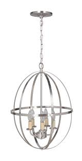 hardwired pendant series 4 lights brushed nickel mini chandelier with circular cage shade