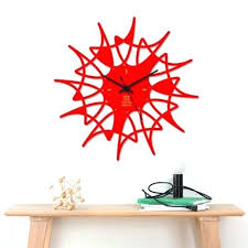 modern art wall clocks creative red home decor wall clock modern art decor wall clock sticker