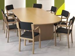 kito meeting table in beech with wooden chairs kito meeting round meeting