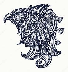 Starověký Egypt Tetování A Tričko Design Horus Bohů Oko Ra Stock