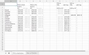 price comparison sheet excel how to find a cheap flight using excel magic
