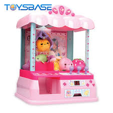 Vending Machine Toys Wholesale Simple Battery Operated Doll Machine Toy Mini Doll Catching Machine Plastic