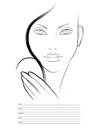 Free Printable Face Charts For Makeup Artists Makeup Face Drawing At Getdrawings Com Free For Personal