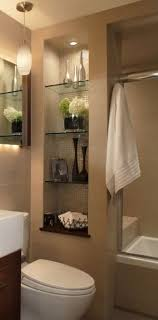glass shelves for bathroom. 65+ small bathroom remodel ideas for washing in style. glass shelves