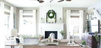 Neutral Living Room Comes To Life With Woven Wood Shades The Mesmerizing Living Room Shades Decor