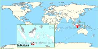 bali on the world map