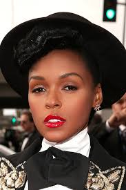 janelle monae looked luxe in her tux at the grammys last night here the beauty breakdown of her makeup and nails courtesy of cover