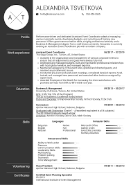 Event Planner Resume Objective Resume Examples By Real People Assistant Event Coordinator