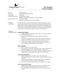 Teacher Job Description Resume Best Of Math Teacher Description Eukutak