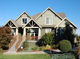 ... Classy Decoration Exterior For Craftsman Style Home Colors Ideas :  Endearing Grey Cement Steps Front Stairs ...