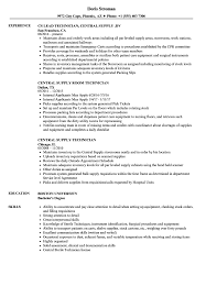 Central Supply Technician Resume Sample Central Supply Technician Resume Samples Velvet Jobs 1
