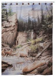 magnificent rustic shower curtains and horse canyon shower curtain rustic shower curtains