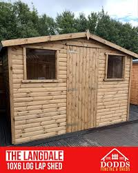 langdale log lap shed fencing sheds