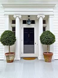 the front door of our dreams live topiary trees for front porch