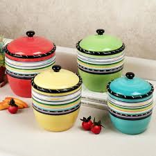 rustic kitchen canisters sets country blue