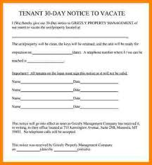 30 day eviction notice template tenant 30 day notice template