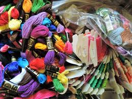 Image result for embroidery floss pile