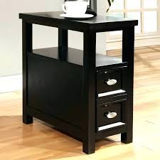 black wood end tables wood end tables with drawers table drawer modern black rectangle shaped sofa