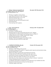 Ndt Inspector Resume Examples Of Ndt Resume Ndt And Inspection Resumes Page
