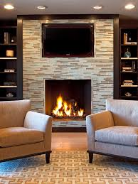 spaces mosaic tile fireplace built ins design pictures remodel decor and ideas