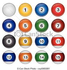pool table balls clipart. Contemporary Pool Billiard Balls  Csp5983081 For Pool Table Clipart P