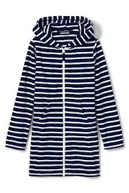 Lands End Jacket Size Chart Amazon Com Lands End Little Girls Stripe Kangaroo Pocket