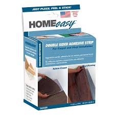 homeeasy 1 875 in x 75 ft clear double sided seam tape